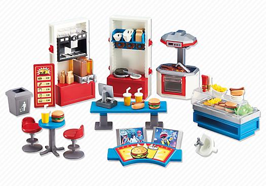 Playmobil set 6441 fast food restaurant klickypedia - Playmobil haus schlafzimmer ...