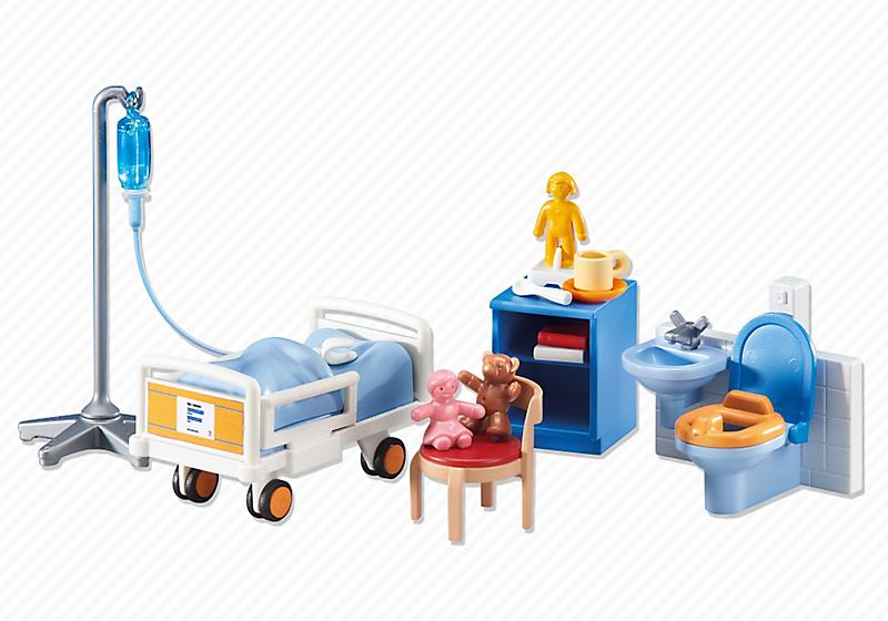 Playmobil set 6444 children 39 s hospital room klickypedia for Hospital de playmobil