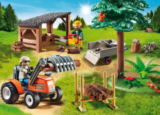 Playmobil - 6814 - Woodcutters with tractor