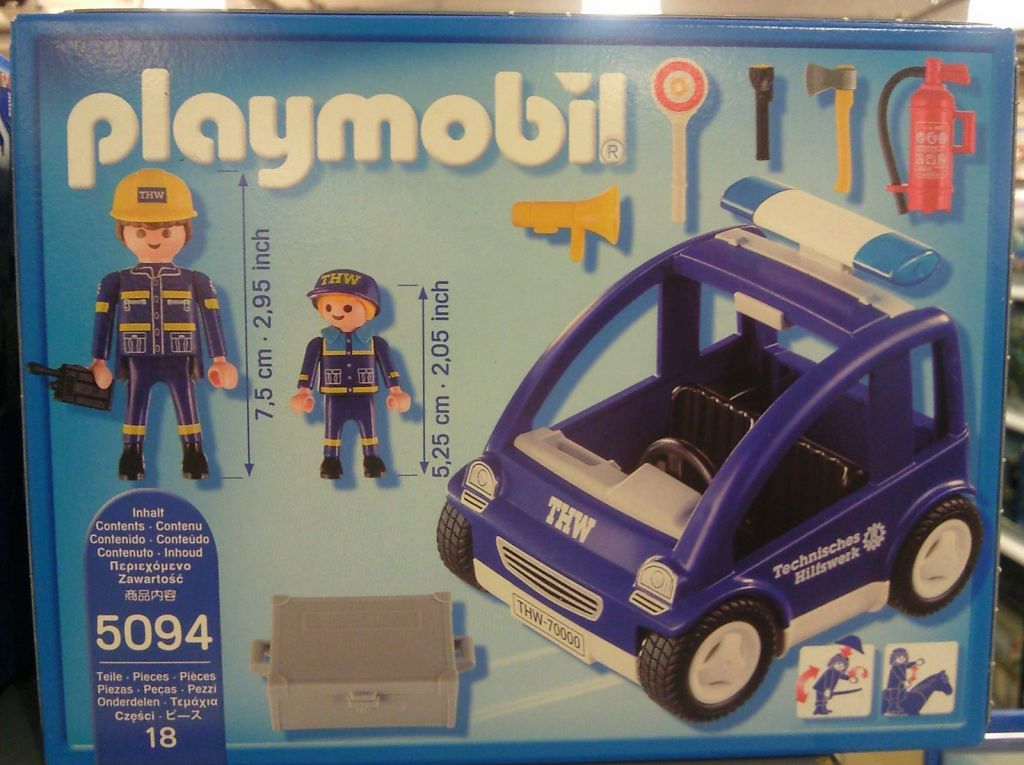 Playmobil 5094 - THW trainer vehicle - Back