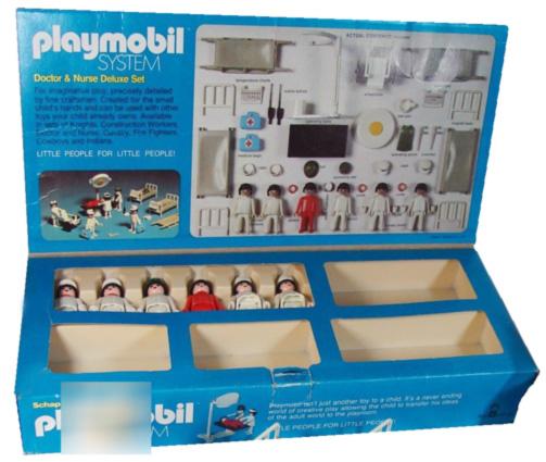 Playmobil 050-sch - Doctors & Nurse Deluxe Set - Back