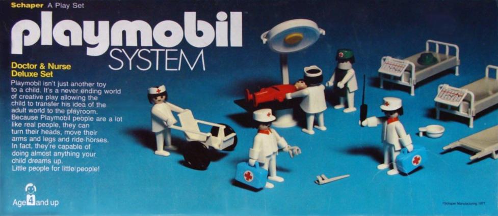 Playmobil 050-sch - Doctors & Nurse Deluxe Set - Box