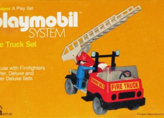 Playmobil - 077-sch - Feuerwehrauto Set
