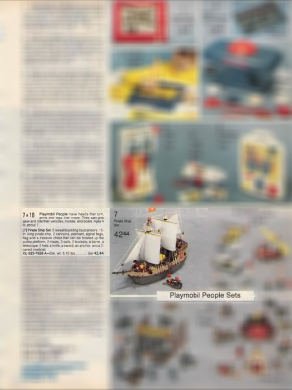 Playmobil 923-7926-sch - Pirate Ship Set - Box
