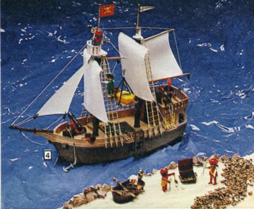 Playmobil 49-59993-sch - Pirate Ship - Box