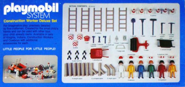 Playmobil 015-sch - Construction Worker Deluxe Set - Back