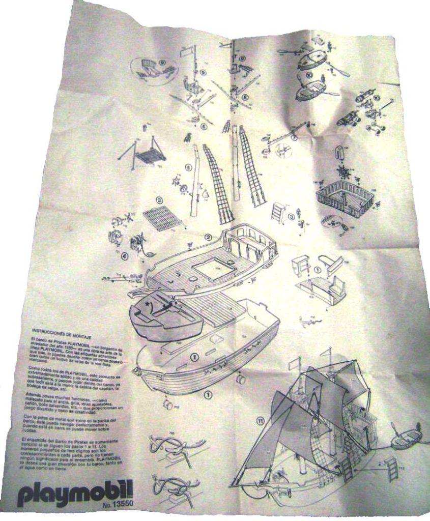 Playmobil 13550-aur - Pirate Ship - Back