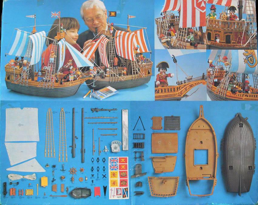 Playmobil 3550v2 - Pirate Ship - Back