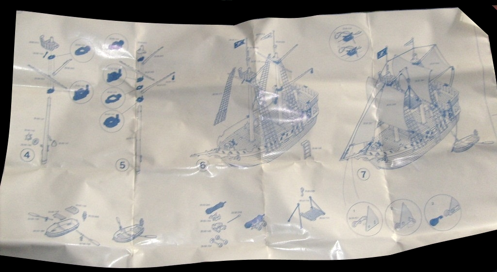 Playmobil 3750-ant - Pirate ship - Back