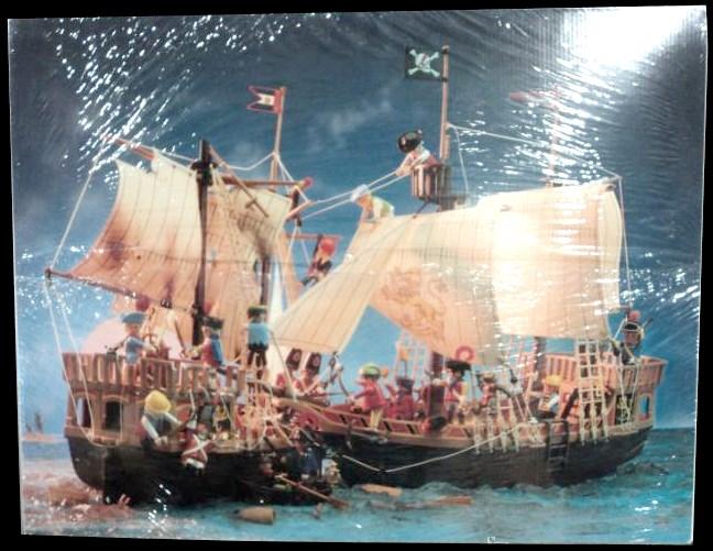 Playmobil 3750v1-esp - pirate ship - Back