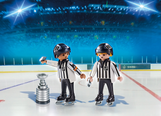 Playmobil - 5070-usa - NHL® Referees with Stanley Cup®