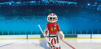 Playmobil - 5074-usa - NHL® Chicago Blackhawks® Goalie
