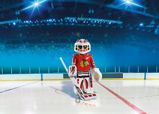 Playmobil - 5074-usa - NHL® Chicago Blackhawks® Goalie