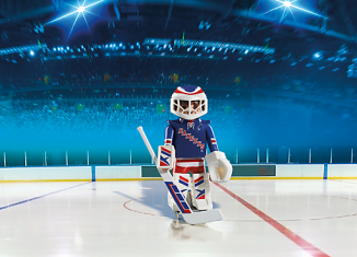 Playmobil - 5081-usa - NHL® New York Rangers® Goalie