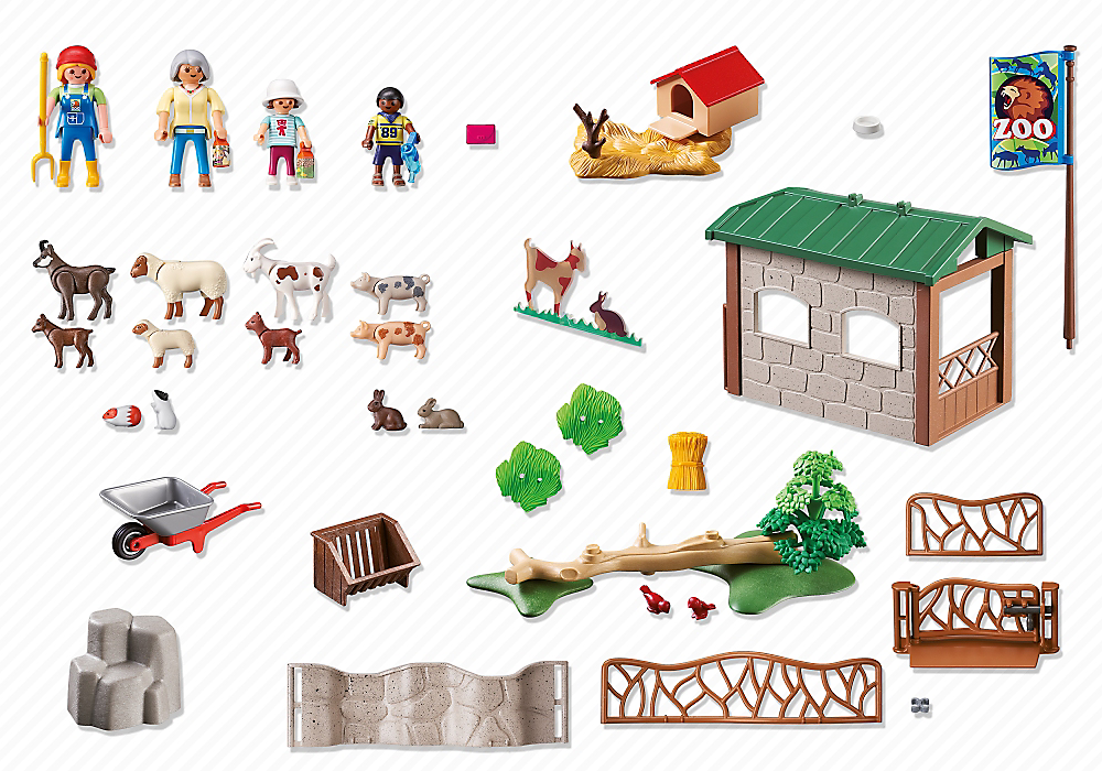 Playmobil 6635 - Petting Zoo - Back
