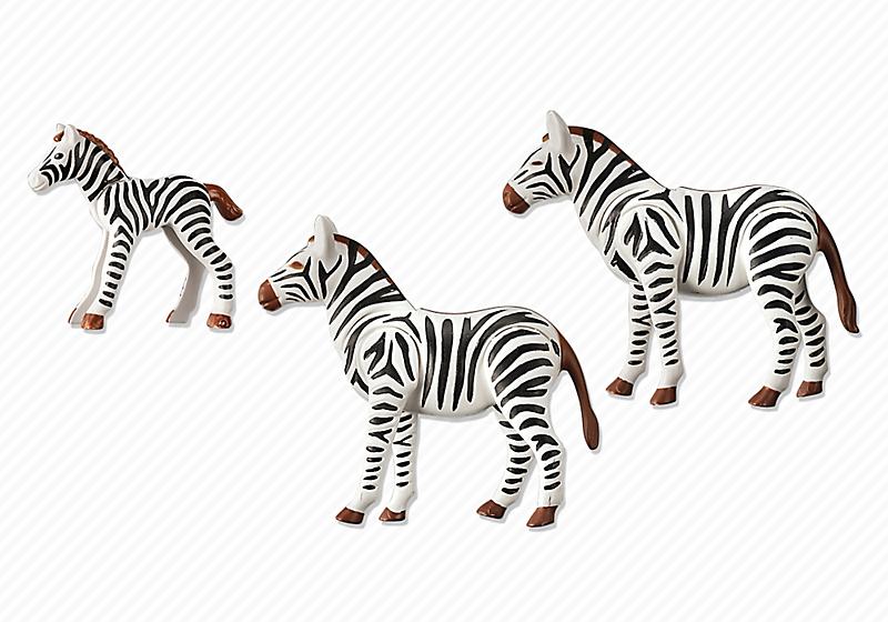 Playmobil 6641 - Zebra family - Back