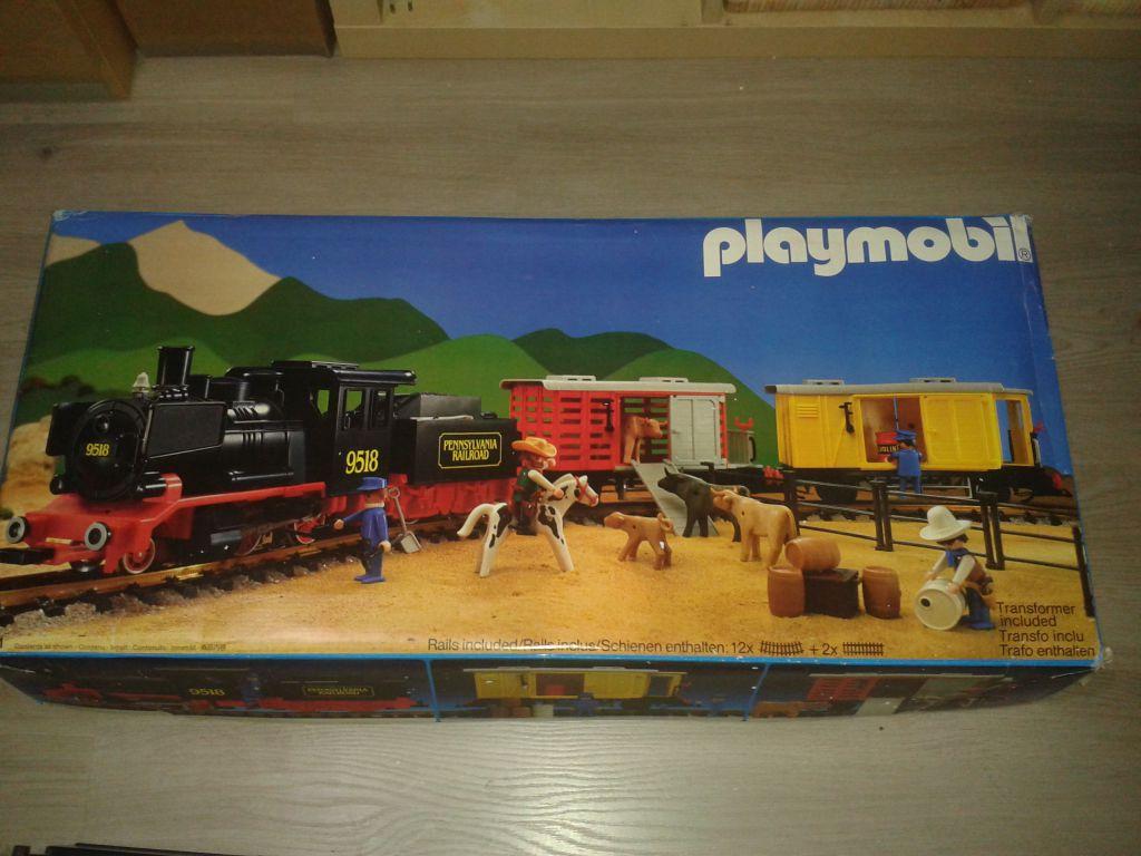 Playmobil set 4029 usa steam freight train set - Train playmobil ...