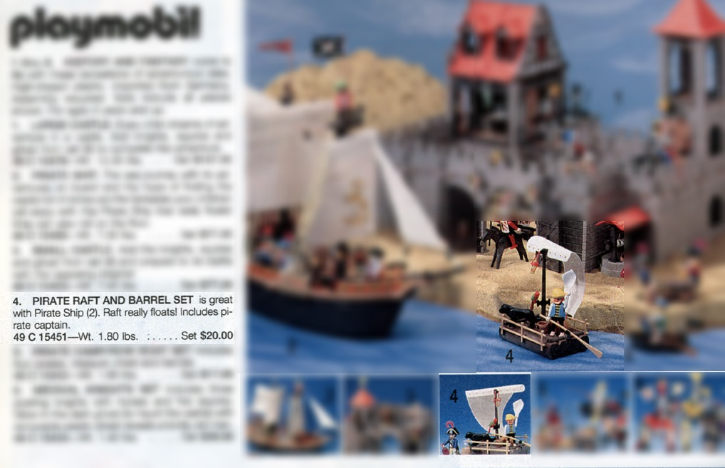 Playmobil 49-C-15451-usa - pirate raft and barrel set - Box
