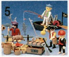 Playmobil - 49-C-15452-usa - pirate camp / rowboat set