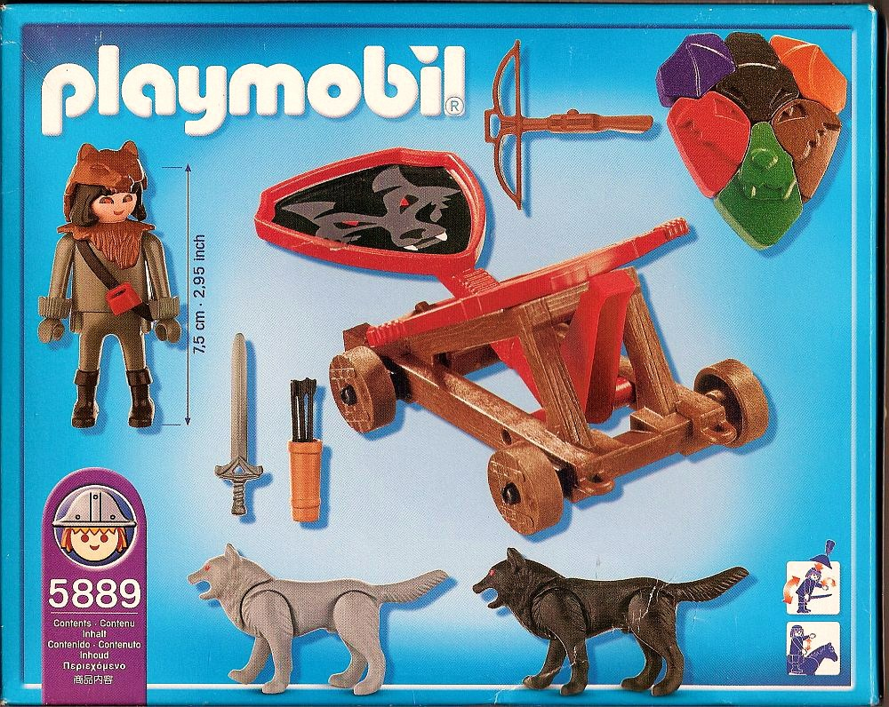 Playmobil 5889 - Wolf Knight & Fire catapult - Back