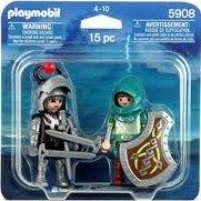 Playmobil - 5908 - Black Dragon Knight vs. Green Dragon Knight Duo-Pack