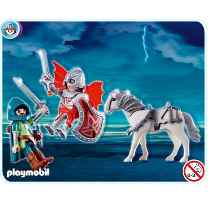 Playmobil - 5909 - Dragon knights with horse & sword