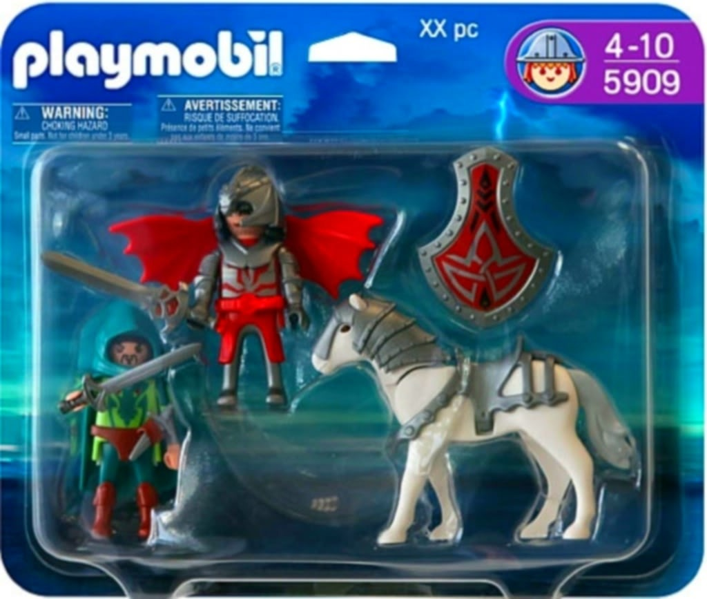 Playmobil 5909 - Dragon knights with horse & sword - Box