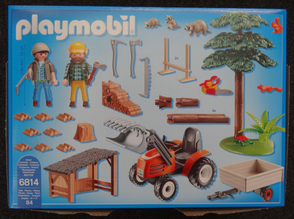 Playmobil 6814 - Woodcutters with tractor - Back