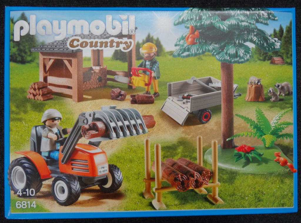 Playmobil 6814 - Woodcutters with tractor - Box