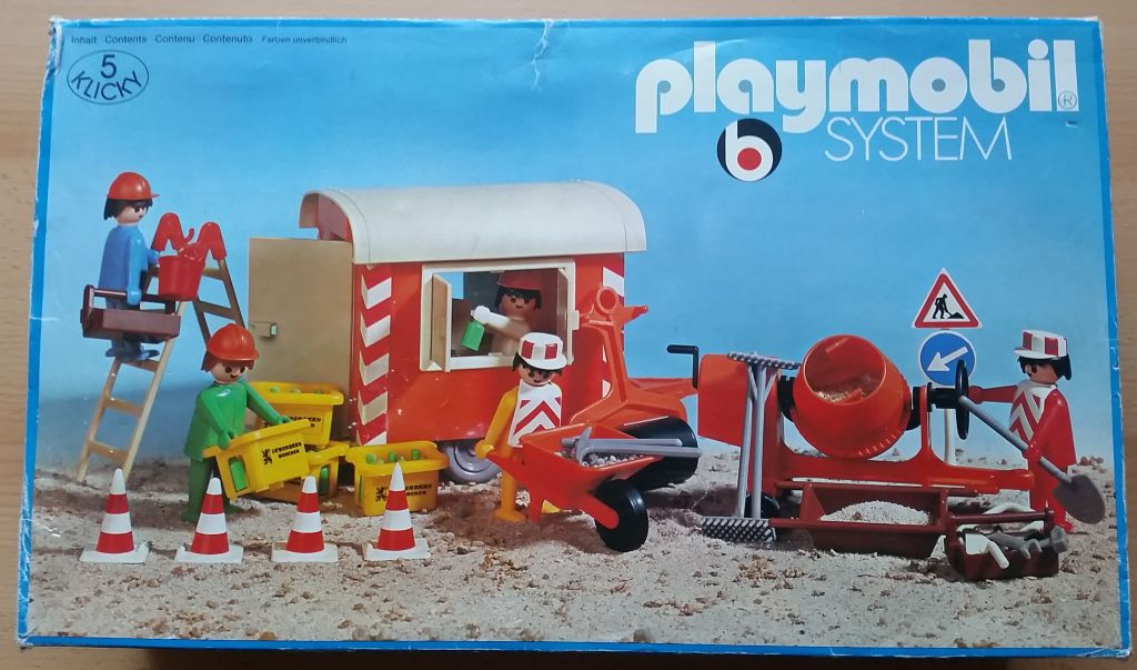 Playmobil 3151s1 - Construction Trailer and Workers - Box