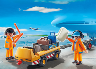 Playmobil - 5396 - Aircraft tractors with air traffic controllers