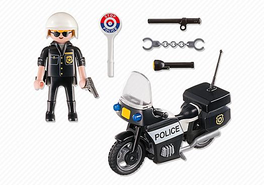 Playmobil 5648-usa - Police Carry Case - Back