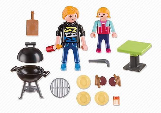 Playmobil 5649-usa - Backyard Barbecue Carry Case - Back