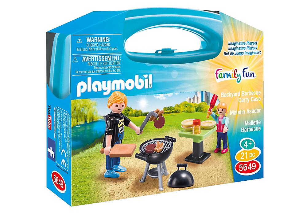 Playmobil 5649-usa - Backyard Barbecue Carry Case - Box