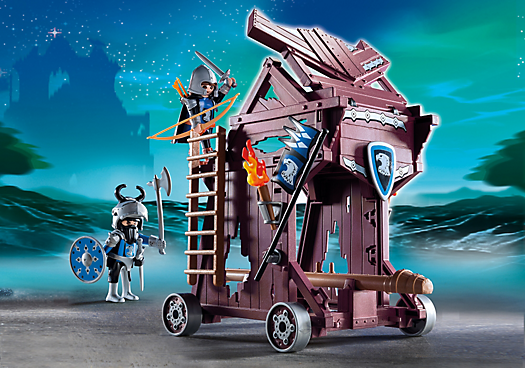 Playmobil set 6628 eagle knights siege tower klickypedia for Playmobil caballeros