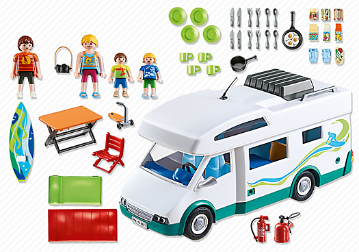 Playmobil 6671 - Family camper - Back