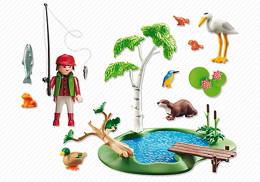 Playmobil 6816 - Fisherman with animals - Back