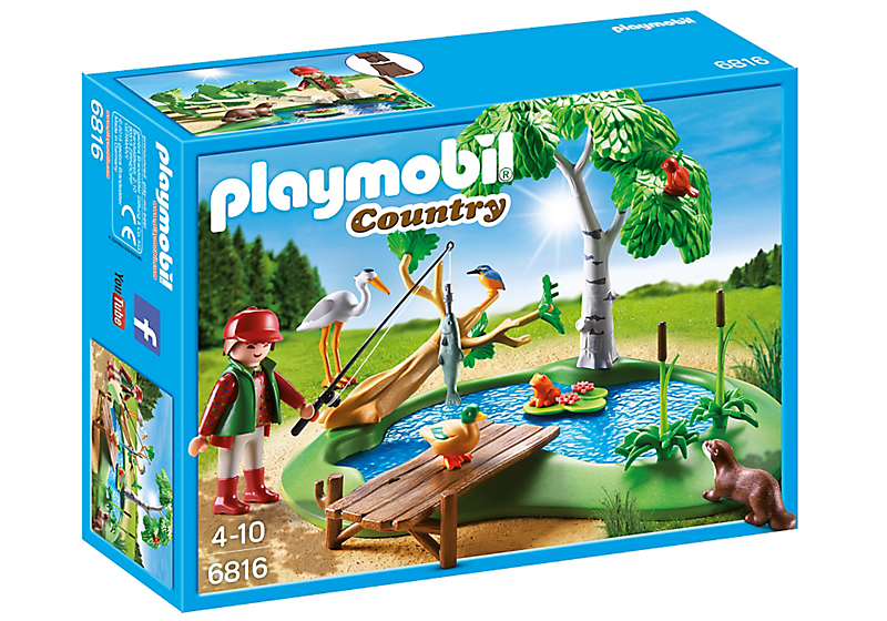 Playmobil 6816 - Fisherman with animals - Box