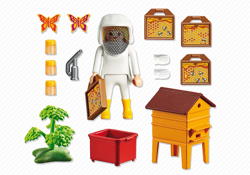 Playmobil 6818 - Beekeeper - Back