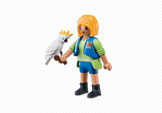 Playmobil 6830 - Birdtrainer with Parrot - Back