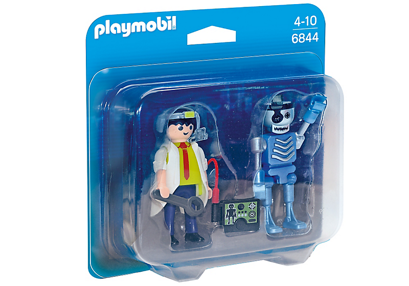 Playmobil 6844 - Scientist with Robot Duo Pack - Box