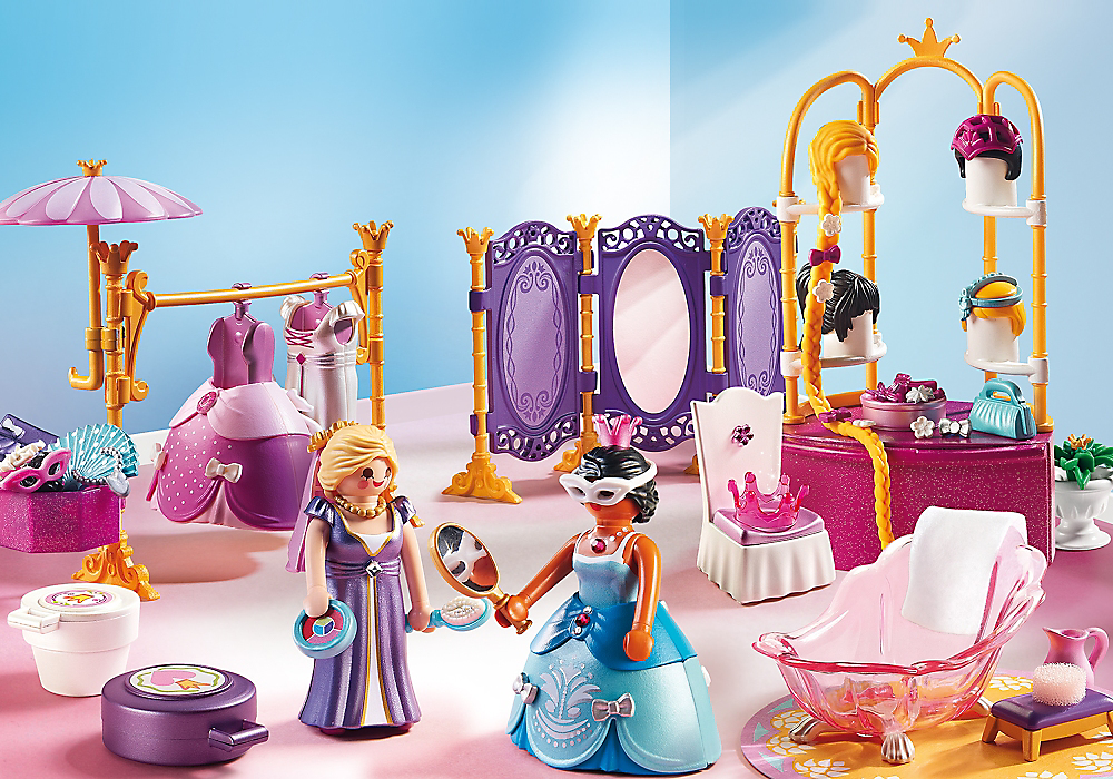 Playmobil set 6850 princesses wardrobe klickypedia for Playmobil chambre princesse