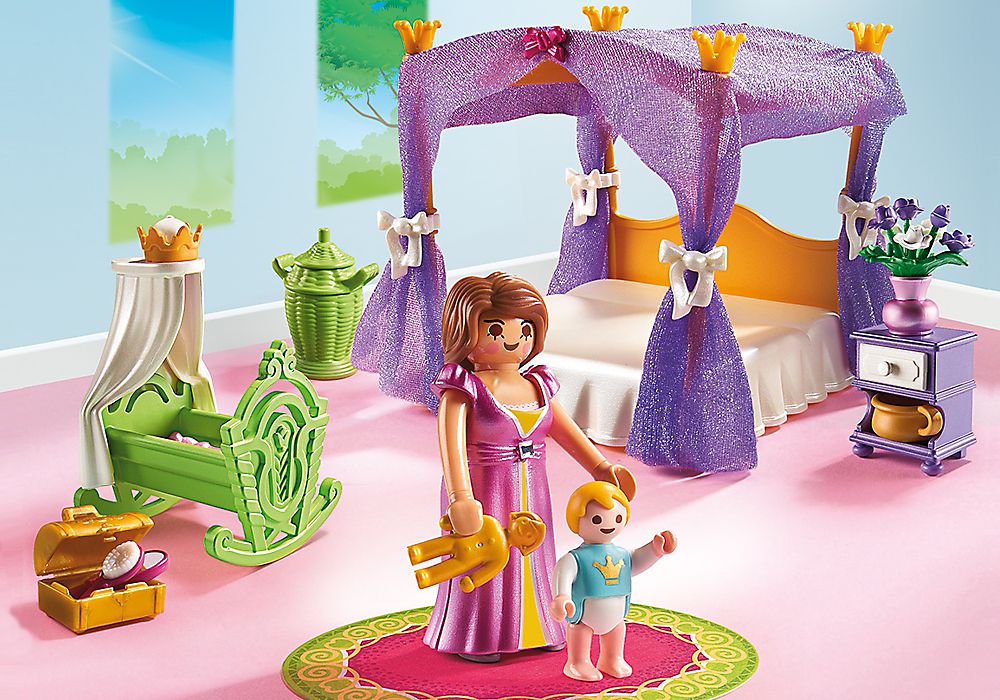 Playmobil set 6851 princess bedroom klickypedia for Salle a manger playmobil