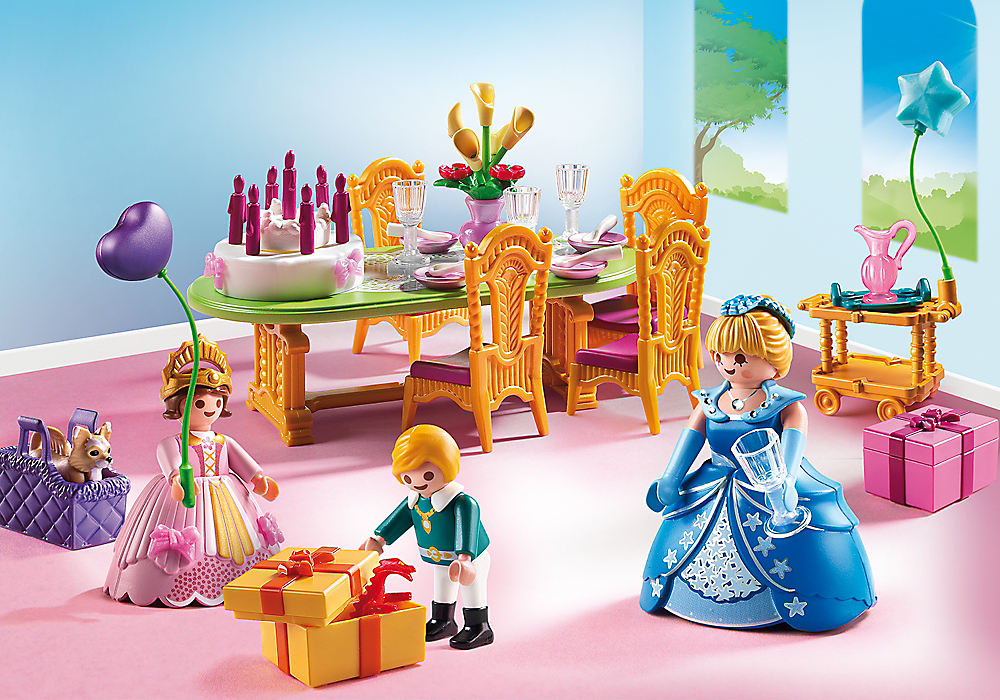Playmobil set 6854 dining palace klickypedia for Salle a manger playmobil