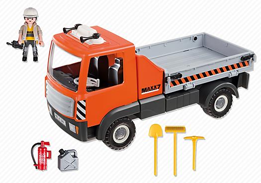 Playmobil 6861 - Dump truck - Back