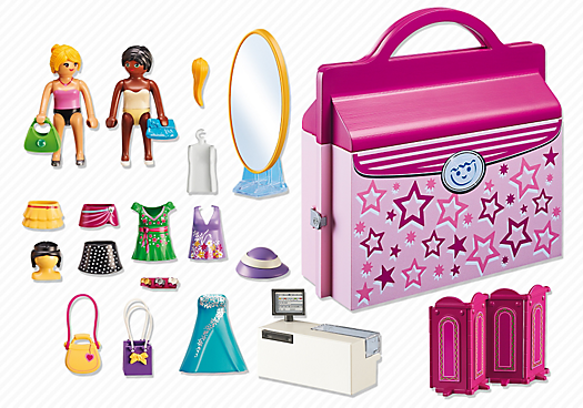 Playmobil 6862 - Briefcase Fashion Boutique - Back