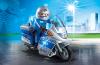 Playmobil - 6876 -  Motorcycle patrol with LED flashing light