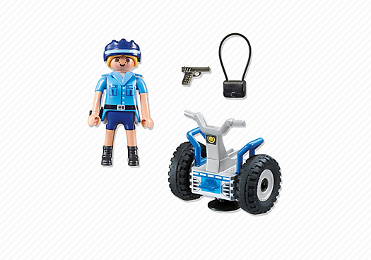 Playmobil 6877 - Policewoman with balance-Racer - Back