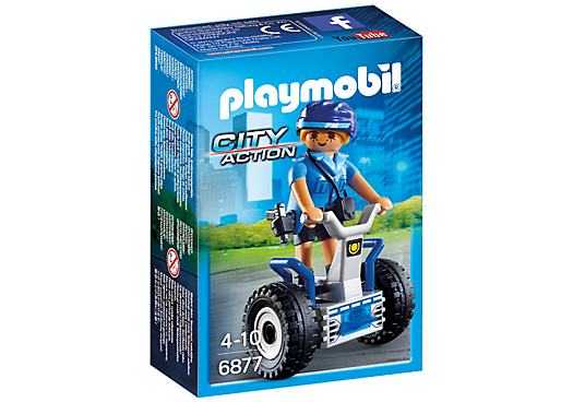 Playmobil 6877 - Policewoman with balance-Racer - Box
