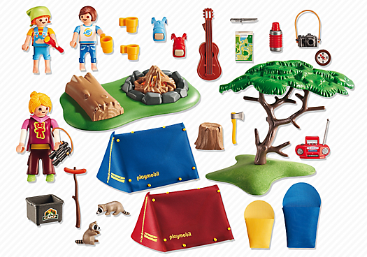 Playmobil Set: 6888 - Camp Site with Fire - Klickypedia